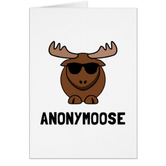 Anonymoose Note Card