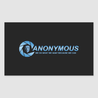 Anonymous 2 rectangular sticker