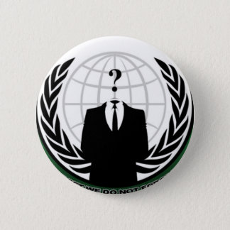 anonymous 6 cm round badge