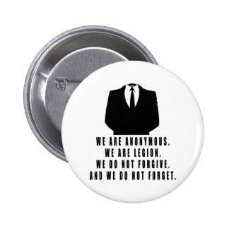 Anonymous 6 Cm Round Badge