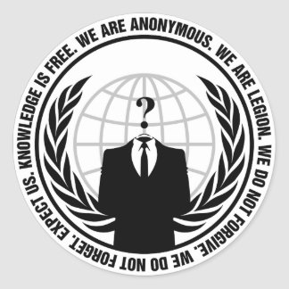 Anonymous badge classic round sticker