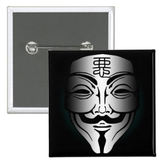 Anonymous badness 15 cm square badge