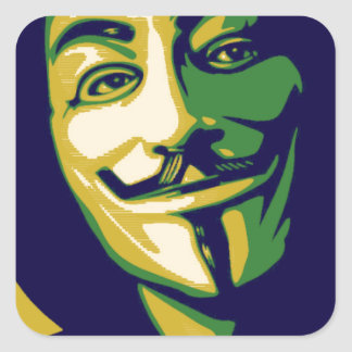 Anonymous Brazil Square Sticker