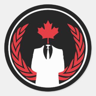 Anonymous Canada Black Sticker