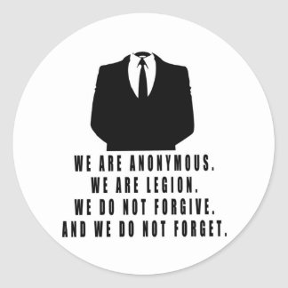 Anonymous Classic Round Sticker