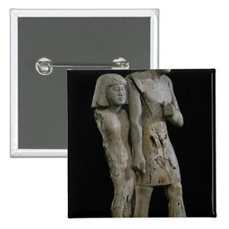 Anonymous couple known as the Memphis Couple 15 Cm Square Badge