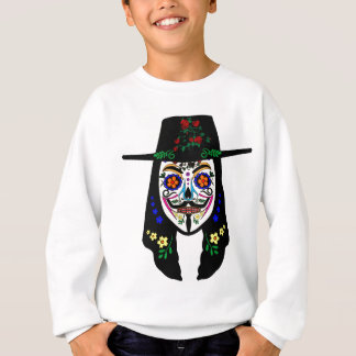 ANONYMOUS Day of the Dead 6 Anon Mask Sugar skull Sweatshirt