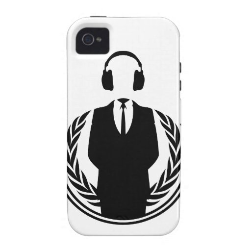 Anonymous DJ iPhone 4 Cover