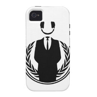Anonymous DJ smiley Vibe iPhone 4 Cover