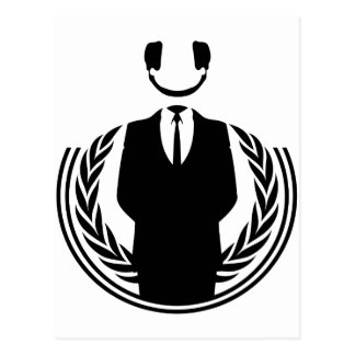 Anonymous DJ smiley Postcard