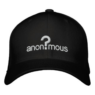 Anonymous Embroidered Baseball Cap
