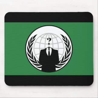 Anonymous Flag Mouse Pad