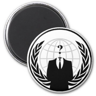 Anonymous International Logo 6 Cm Round Magnet
