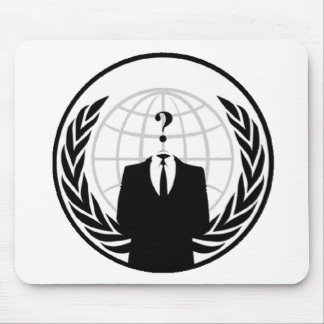 Anonymous International Logo Mouse Mat