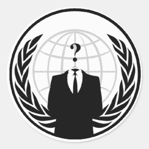 Anonymous International Logo Round Sticker