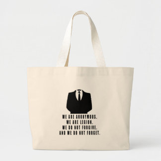 Anonymous Large Tote Bag