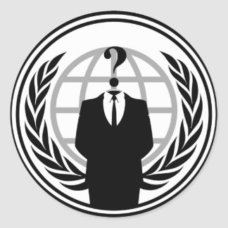 Anonymous Logo Circular Sticker