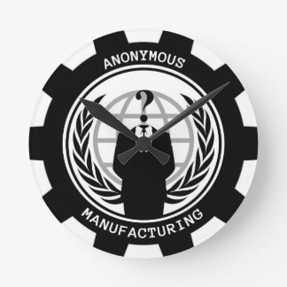 Anonymous Manufacturing Round Clock