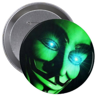 anonymous mask 10 cm round badge