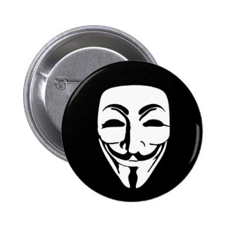 ANONYMOUS MASK 6 CM ROUND BADGE