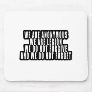 ANONYMOUS MOUSE MAT