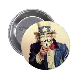 Anonymous Sam 6 Cm Round Badge