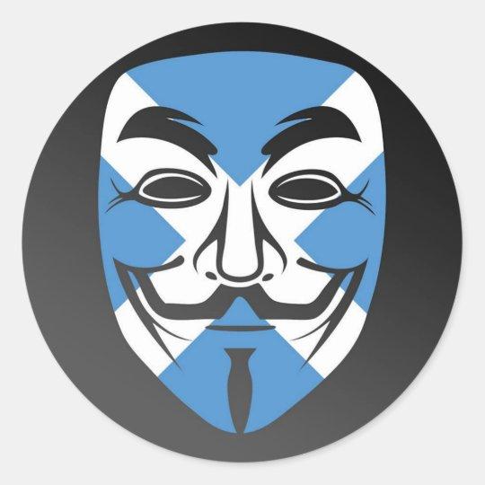 Anonymous Scotland Stickers. Classic Round Sticker