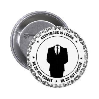 anonymous seal 6 cm round badge