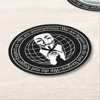 Anonymous seal round paper coaster