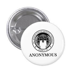 Anonymous Sic Semper Evello Mortem Tyrannis 3 Cm Round Badge