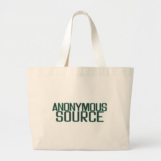 Anonymous Source Tote Bags