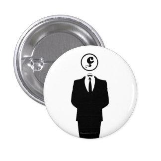Anonymous/Target Hooks/White Badge// 3 Cm Round Badge