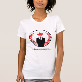 Anonymous Toronto Female White Billboard T-Shirt