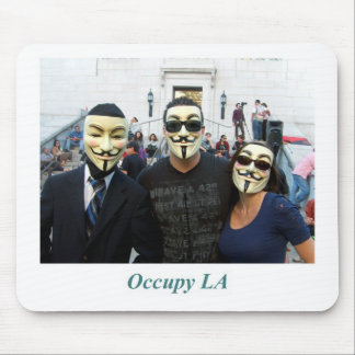Anonymous Trio Day7 Occupy LA Mouse Pad
