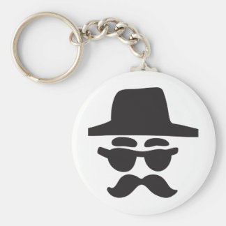 anonymous - type basic round button key ring