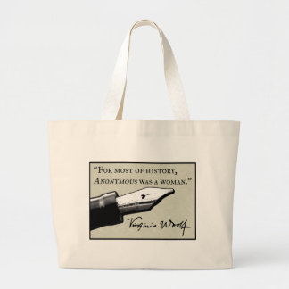 Anonymous Was a Woman Large Tote Bag