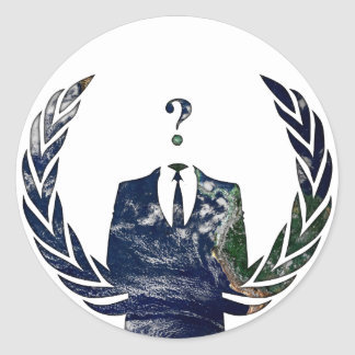 Anonymous Worldwide Classic Round Sticker