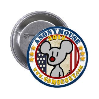 Anonymouse 2012 6 cm round badge