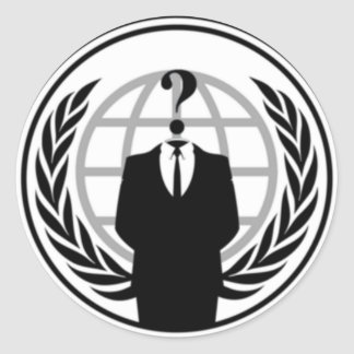Anonywear Classic Round Sticker
