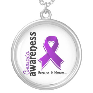 Anorexia Awareness 5 Silver Plated Necklace