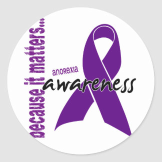 Anorexia Awareness Classic Round Sticker
