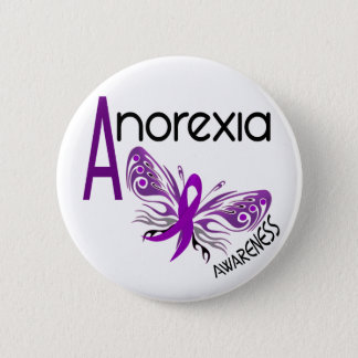 ANOREXIA BUTTERFLY 3.1 6 CM ROUND BADGE