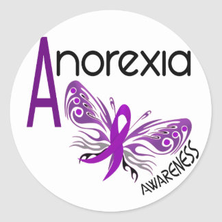 ANOREXIA BUTTERFLY 3.1 ROUND STICKER