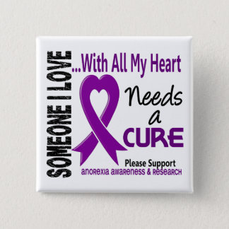 Anorexia Needs A Cure 3 15 Cm Square Badge