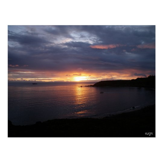 Another Beautiful Sunset On Pagan Island Postcard