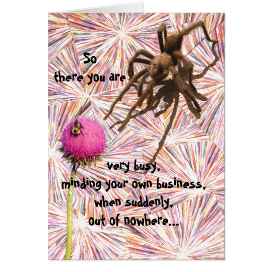 Another Birthday Grabs You Spider Card