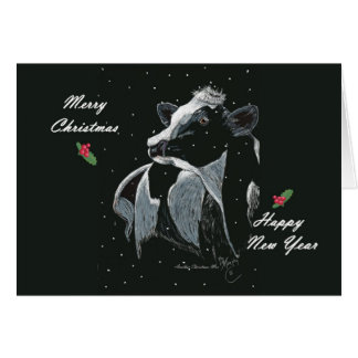 Another Christmas Moo Greeting Card