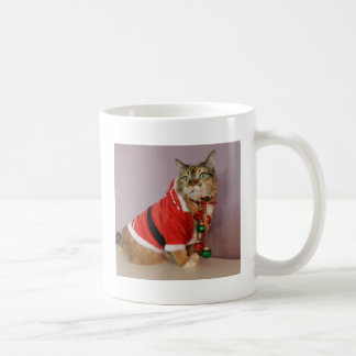 Another Christmas Santa cat Basic White Mug