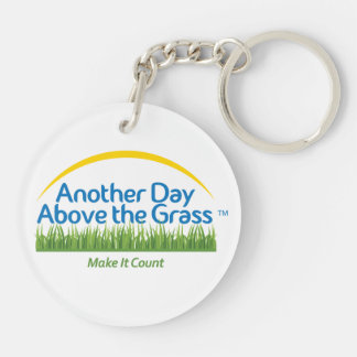 Another Day Above the Grass Keychain