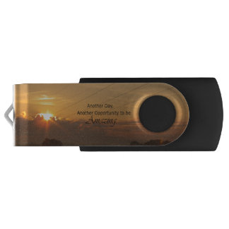 Another Day, Another Opportunity to be Amazing Swivel USB 2.0 Flash Drive